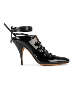 Givenchy   Lace Up Pointed Toe Mules Leather/Patent