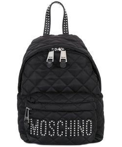 Moschino | Quilted Logo Backpack Leather/Polyester/Metal