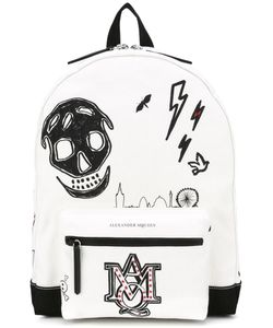 Alexander McQueen | Printed Canvas Backpack Cotton