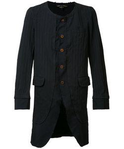 COMME DES GARCONS HOMME PLUS | Comme Des Garçons Homme Plus Pinstripe Collarless Coat Size Xl