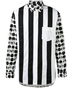 Comme Des Garcons | Comme Des Garçons Shirt Contrast Print Shirt Size Large