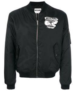 Moschino | Куртка-Бомбер С Принтом-Логотипом