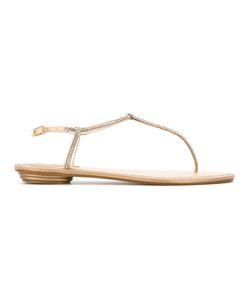 Rene' Caovilla | René Caovilla Rhinestone Studded Flat Sandals Size 38.5
