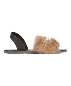 Fabio Rusconi | Gem And Fur Embellished Sandals Women