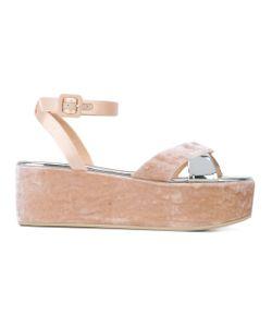 Giuseppe Zanotti Design   Velvet Platform Sandals