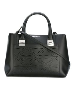 Emporio Armani | Perforated Trim Tote Bag Calf Leather/Cotton