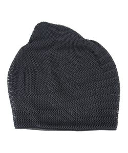 DEVOA | Perforated Detail Beanie Cotton/Silk/Polyester