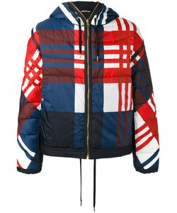 Moncler Gamme Bleu | Checkered Down Jacket Size 3 Cotton/Feather