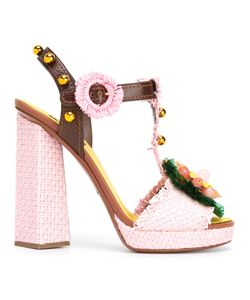 Dolce & Gabbana | Decorative Moven Sandals 35 Leather/Glass