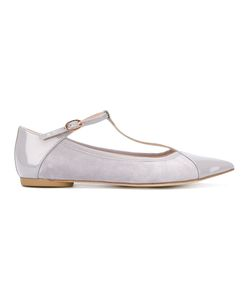 Repetto | T-Bar Pointed Ballerinas Size 37.5