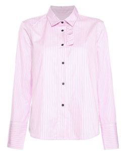 LAREIDA | Pinstripe Ruffle Shirt Women 42