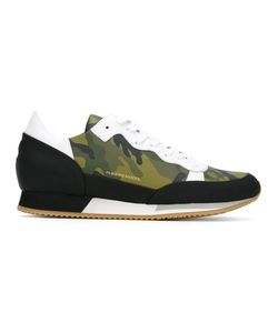 Philippe Model | Camouflage Lace Up Sneakers 44 Polyurethane/Leather/Rubber