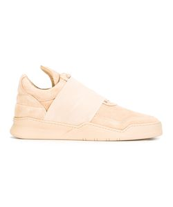 Filling Pieces | Strap Lace-Up Sneakers 43 Calf Suede/Leather/Rubber