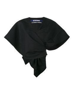 JACQUEMUS | Cropped Bolero Wrap Blouse Size 42