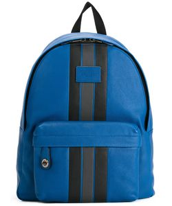COACH | Striped Zipped Backpack Cotton/Leather