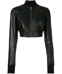 Rick Owens | Cropped Bomber Jacket 40 Leather/Cotton/Cupro