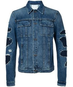 Helmut Lang | Patchwork Sleeve Denim Jacket