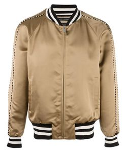 Marc Jacobs | Striped Trim Bomber Jacket 48 Viscose/Cotton/Spandex/Elastane