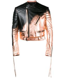 Haider Ackermann | Spray Paint Biker Jacket Large Leather/Cotton/Rayon