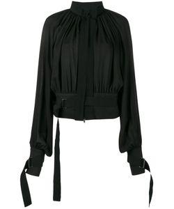 Ann Demeulemeester | Collarless Pleated Jacket