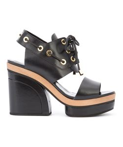 Pierre Hardy | Cut Out Platform Sandals Size 41 Calf