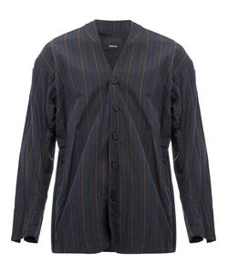 08SIRCUS | Collarless Striped Jacket 5 Cotton/Cupro