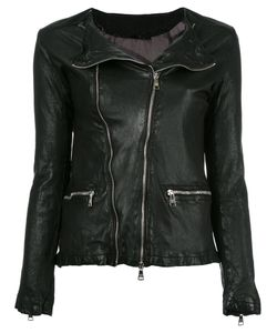 Giorgio Brato | Zip Up Jacket 46 Leather/Nylon/Cotton