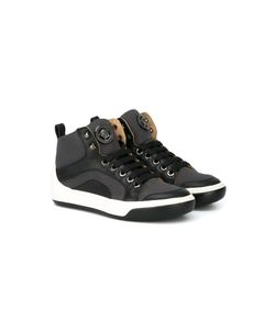 Young Versace | Panelled Trimming Hi-Top Sneakers 30