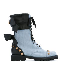 Fausto Puglisi   Chambray Studded Boots