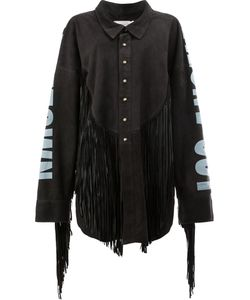 Faith Connexion   Рубашка Из Овечьей Шерсти С Бахромой