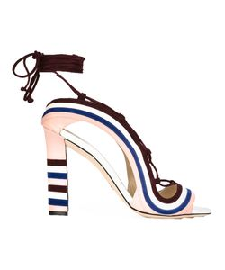 Paula Cademartori | Crazy Stripes Sandals 37 Calf Leather/Leather