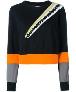 No Ka 'Oi | No Ka Oi Flower Embellished Sweatshirt Small Cotton/Polyamide/Spandex/Elastane