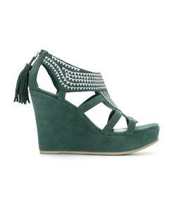 Sarah Chofakian | Embroidered Platform Sandals Size 37