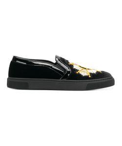 Louis Leeman | Embroidered Slip On Sneakers Men Calf
