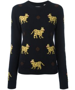 Chinti And Parker | Leopard Intarsia Jumper Small Cashmere