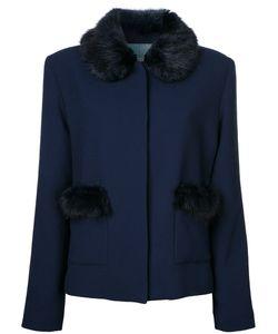 SHRIMPS | Duke Faux Fur Trim Jacket 12 Wool