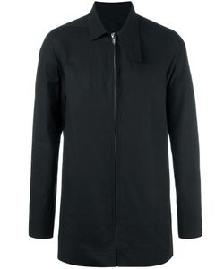 Rick Owens | Patch Pea Coat 52 Cotton/Spandex/Elastane/Cupro