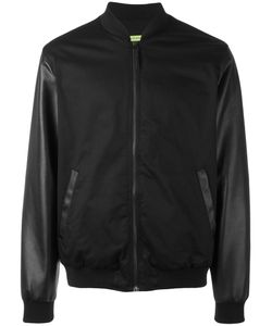 Versace Jeans | Contrast Sleeve Bomber Jacket 52 Cotton/Spandex/Elastane/Polyester/Cotton