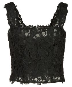 Monique Lhuillier | Lace Cropped Top 4 Polyester/Nylon