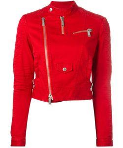 Dsquared2   Cropped Twill Biker Jacket Size 42