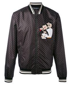 Dolce & Gabbana | Polka Dot Family Appliqué Bomber Jacket
