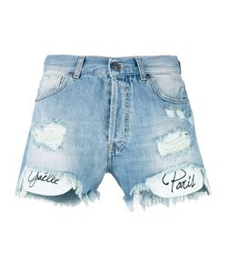 Gaëlle Bonheur | Gaelle Bonheur Printed Pockets Denim Shorts