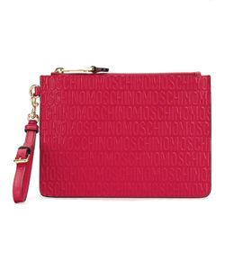 Moschino | Logo Embossed Clutch Leather