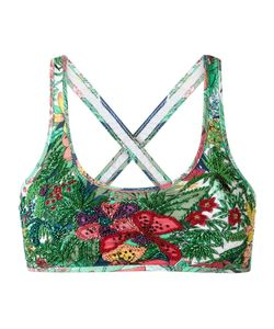 AMIR SLAMA | Embroide Bikini Top Gg Elastodiene