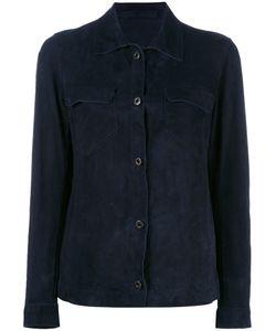 SALVATORE SANTORO | Chest Pocket Jacket 42 Leather/Cotton