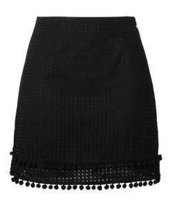 Love Moschino | Perforated Mini Skirt 44 Cotton