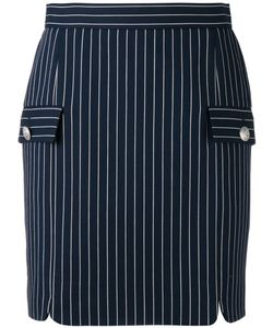 Pierre Balmain | Striped Skirt 38 Cotton/Polyimide/Spandex/Elastane