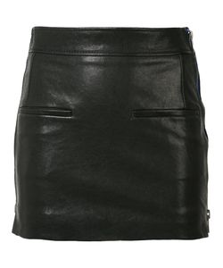 Haider Ackermann | Zipped Laterals Leather Skirt 36 Rayon/Cotton/Leather