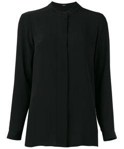 Jil Sander Navy | Collarless Long Sleeve Shirt Size