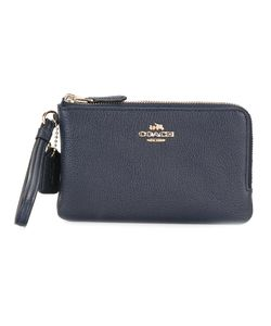 COACH | Double Corner Zip Wristlet Clutch Leather
